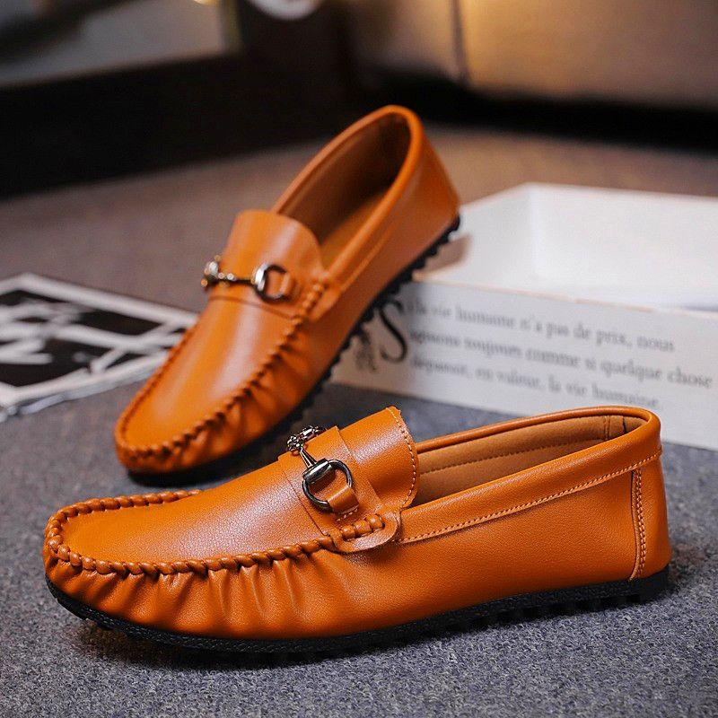 Spring Summer Men Loafers Shoes Fashion Peas Driving Shoes Men Sneakers Flat Man Walking Footwear Big Size 39-44 Men Casual Shoe