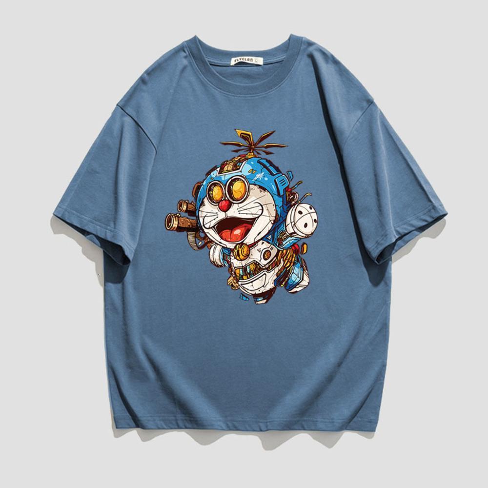 Jovem tendência gorda homens mais tamanho, Cato, Hip-hop, perdas, t-shirt de mouwen curta, astronauta meia mouwen impressão dos desenhos animados