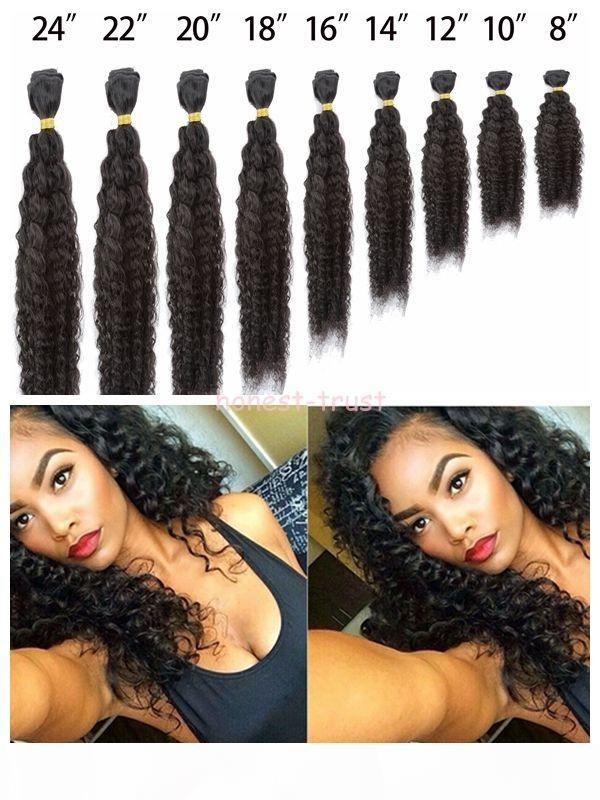 Оценка 7А-10-30 дюймов Популярный стиль Глубокая Волна Волос 100% Человеческих Девы Бразильские Прямые Волосы 60 г ПК 5 шт. Лот