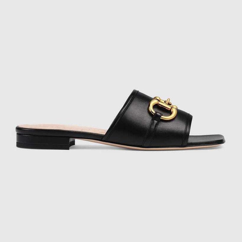 Yaz Düz Sandal Lüks DEVA kadın Deri Slaytlar Sandal Horsbit Altın Tonlu Açık Ayakkabı Lady Beah Rahat Terlik Plaj Ayakkabı