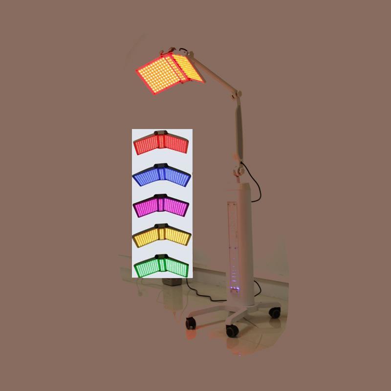 Máquina de rejuvenecimiento de la piel de fotones profesionales PDT LED Terapia de luz Rojo Azul Color Pigmentación Equipo de tratamiento