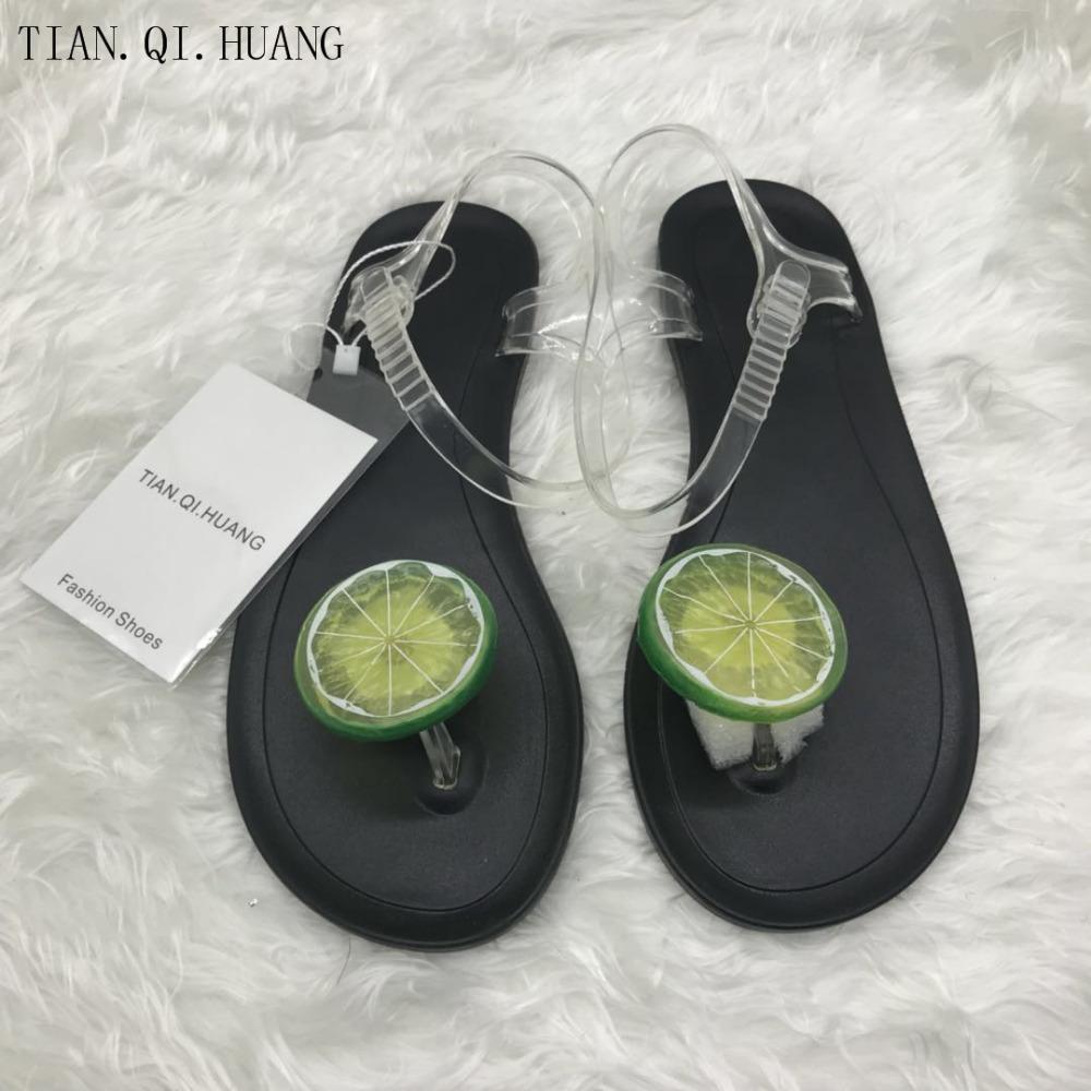Yeni Stil Tatlı Jöle Ayakkabı Kadın Sandalet Düz Yaz Ayakkabı Kadın Casual Flats Ayakkabı Sandalet 210302