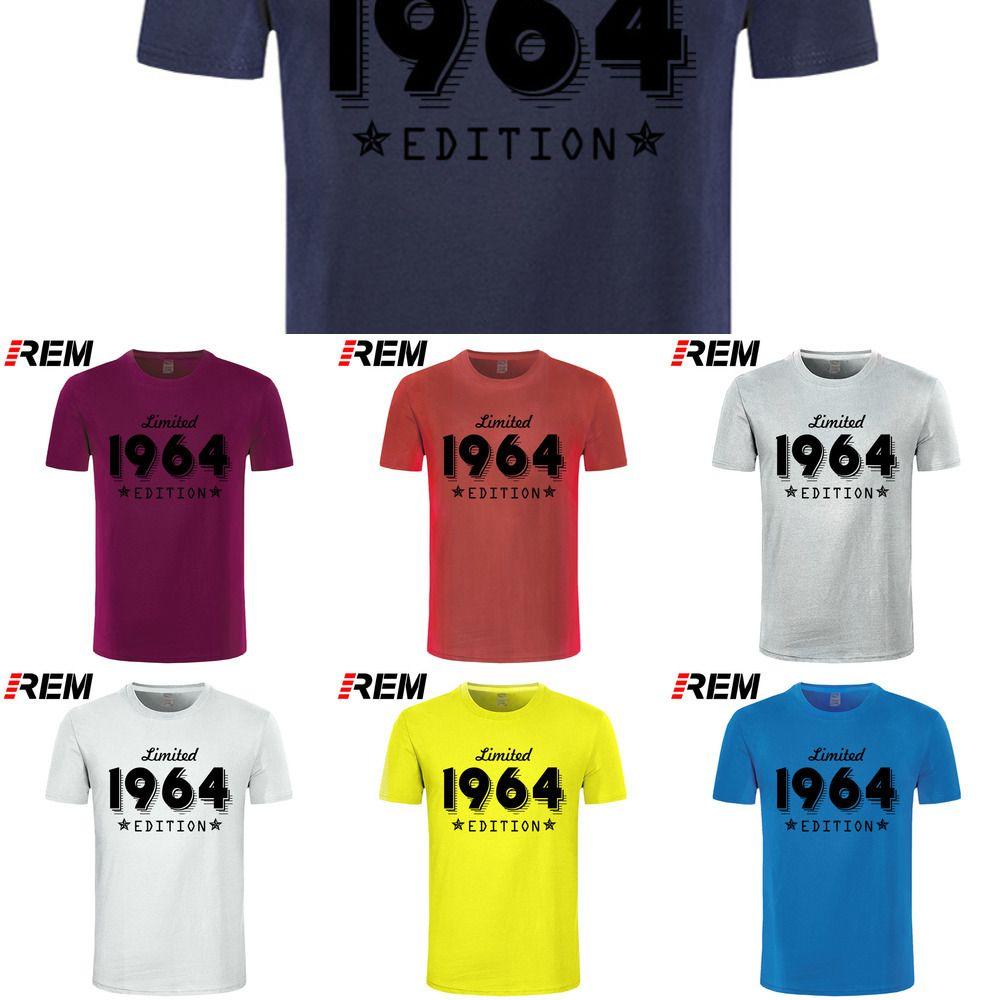 1964 Édition limitée Gold Design T-shirt noir pour hommes Cool Casual Pride T-shirt Hommes Unisexe Nouveau Mode T-shirt Lâche Taille L0223
