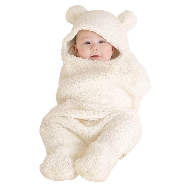 Outono e inverno de 2019 meninos recém-nascidos meninos meninas de algodão bonito pelúcia recebendo cobertor wr wrap swaddle 122 Q2