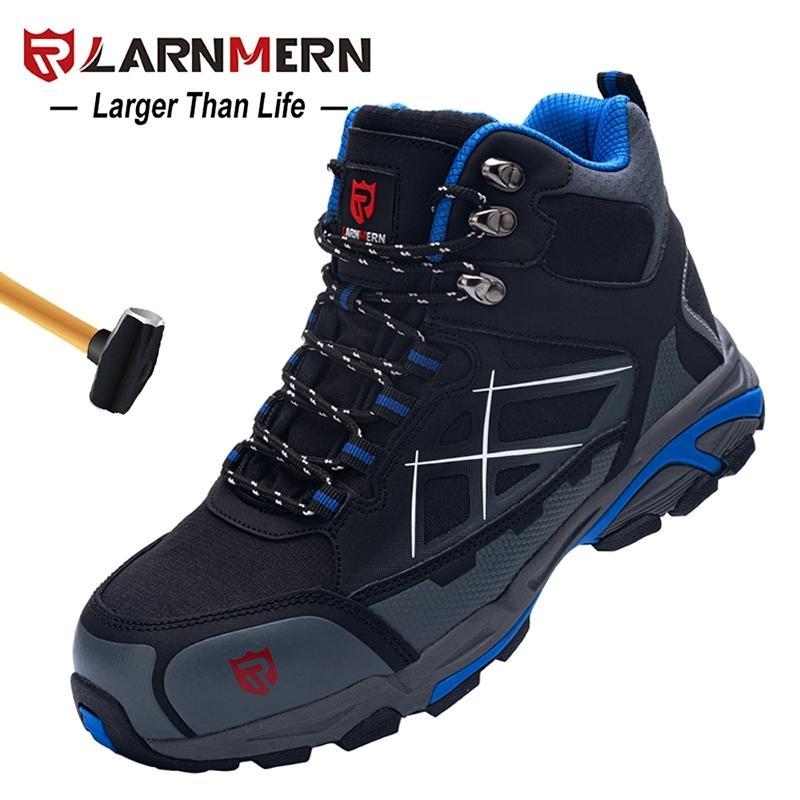 Sapatos de Segurança de Homens Larnmern Steel Toe Construção Calçado de Proteção Leve 3D Impermeável Tênis de Trabalho Sapatos para Homens 210315