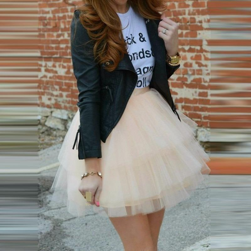 New Fashion Tiered Layers Tulle Skirts Customized Mini Women Skirt Lolita Petticoat Female Tutu Skirt Faldas Mujer Moda
