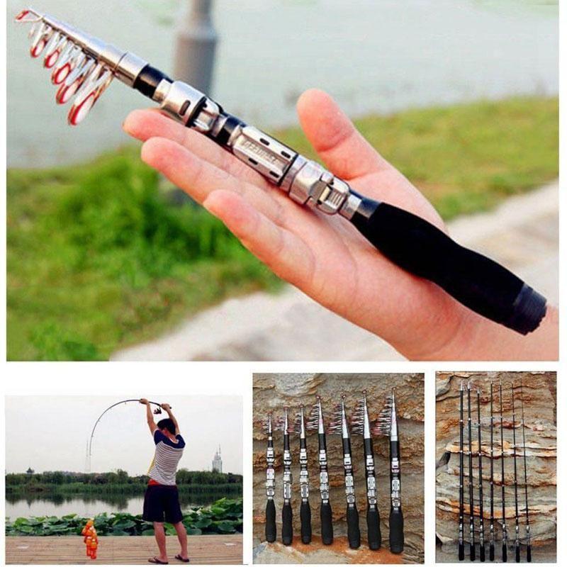 Tige de pêche Super Durs Mini 1m-2.1M FRP Ice River Lake Equipment Tool Tool à outils de bateau
