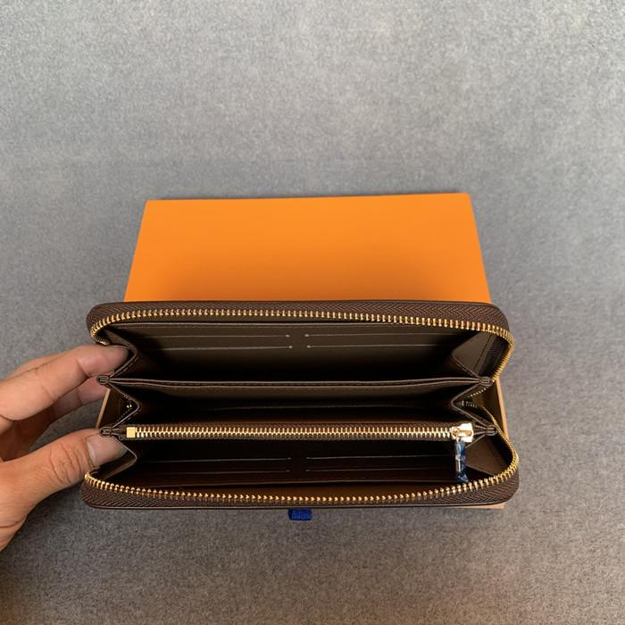 أزياء المرأة مخلب محفظة بو الجلود المحفظة واحدة سستة محافظ سيدة السيدات محفظة طويلة الكلاسيكية مع بطاقة مربع البرتقال 60017