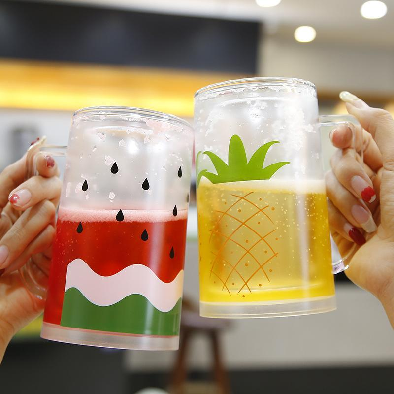 Mugs 2021 Creative Net Red Summer Drink Juice Cup Plastic Drinking Water Student Couple Funny For Friends