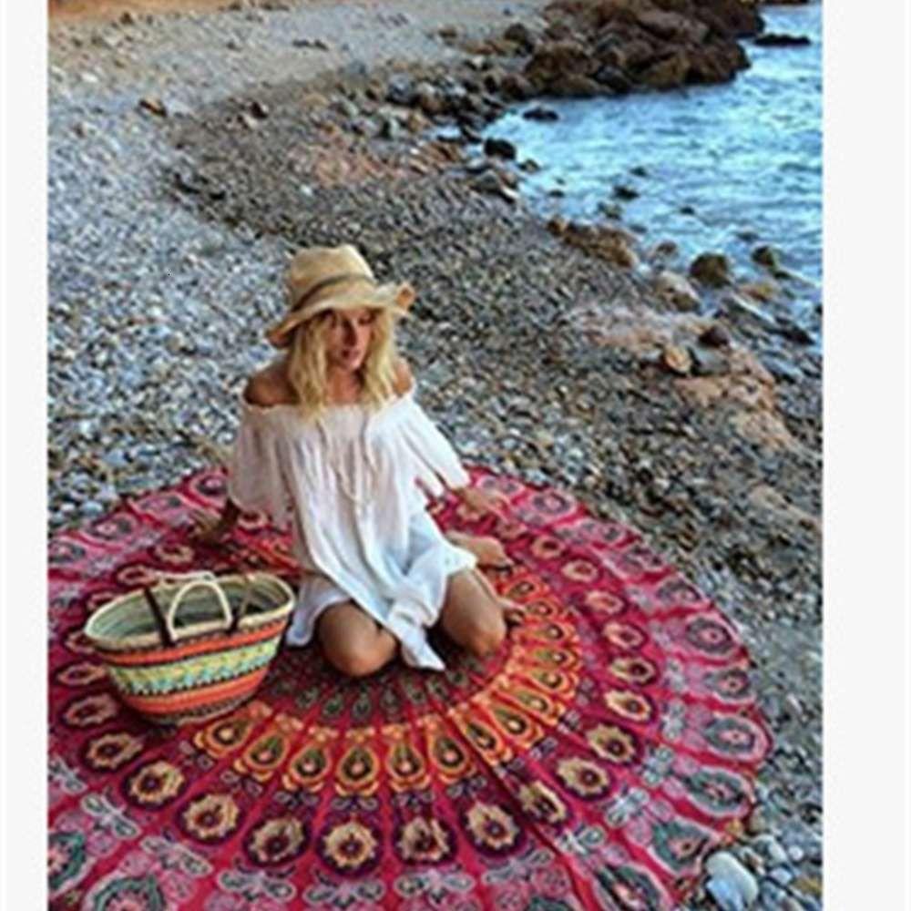 Wind Runder Druck Strandtuch Sonnenschutz Schal Sommer Square Scal kann angepasst werden