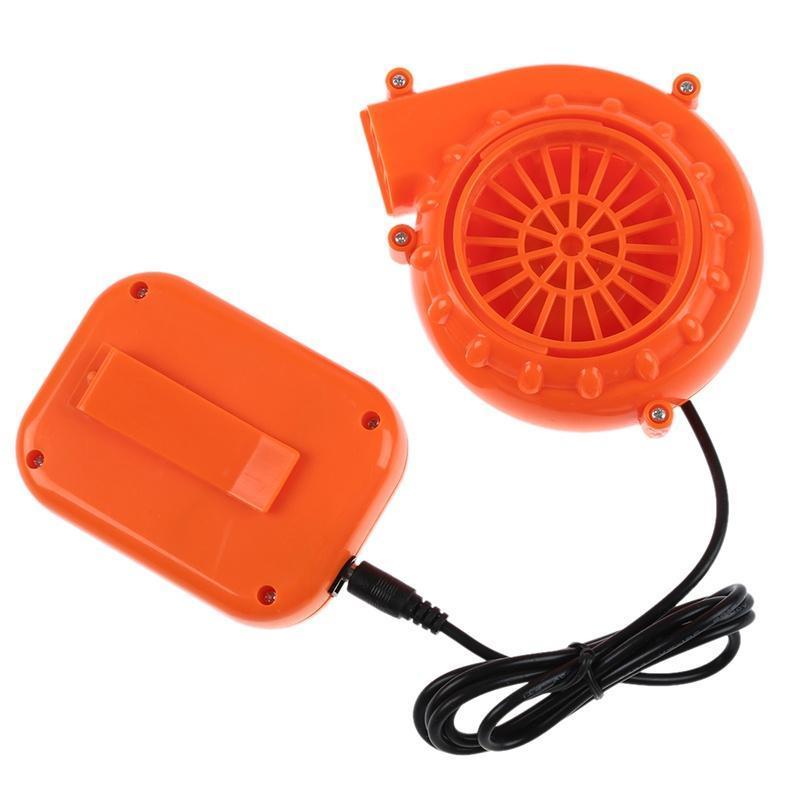 Mini ventilateur de ventilateur pour la tête de mascotte Costume gonflable 6V alimenté 4xaa batterie sèche orange