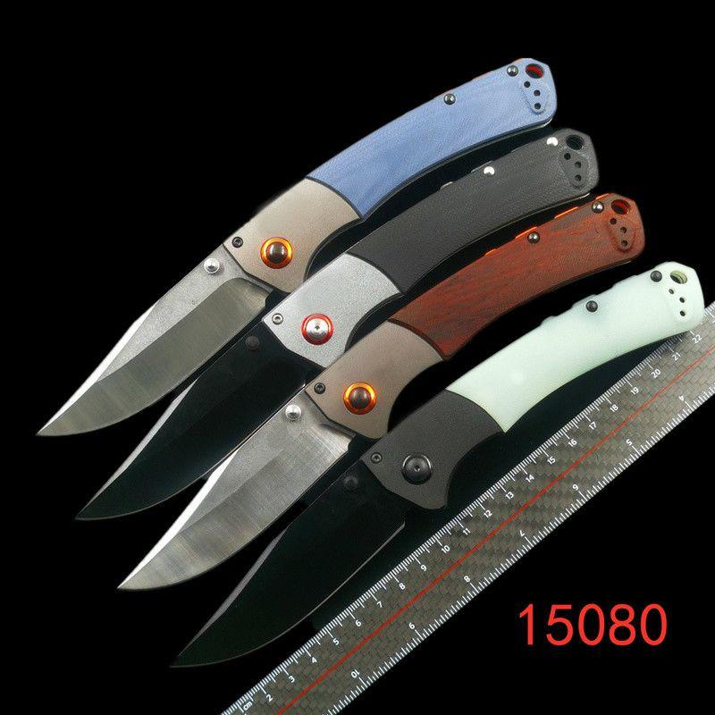 Benchm BM10580 Couteaux pliants de la rivière Crooked S30V Point de pince Dympondie ou G10 Poignées avec aluminium