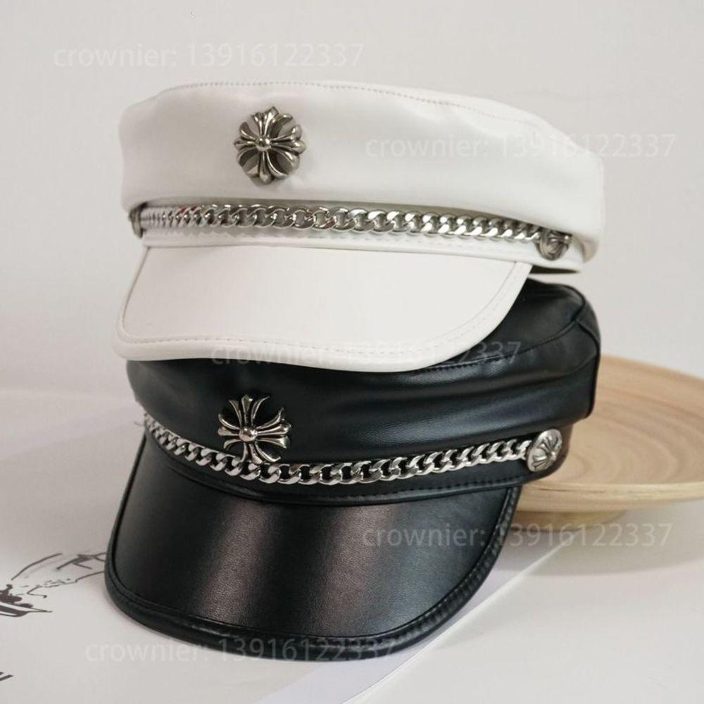 Sombrero de la marina de cuero cruzada de cuero cruzado para niñas