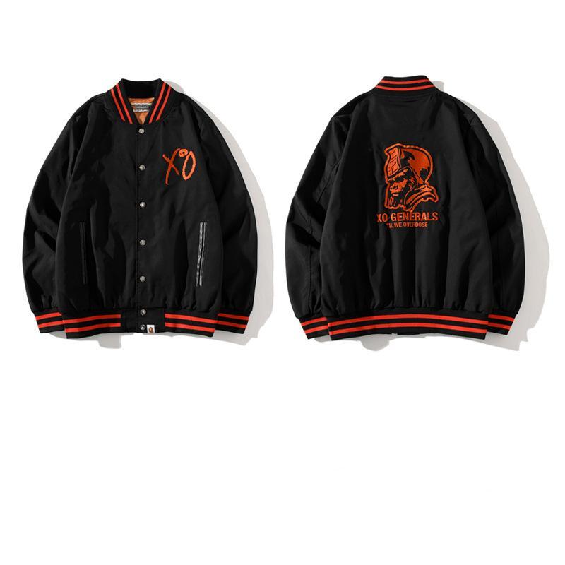 Giapponese popolare logo squalo collaborazione giacca da baseball giacca da baseball casual e confortevole