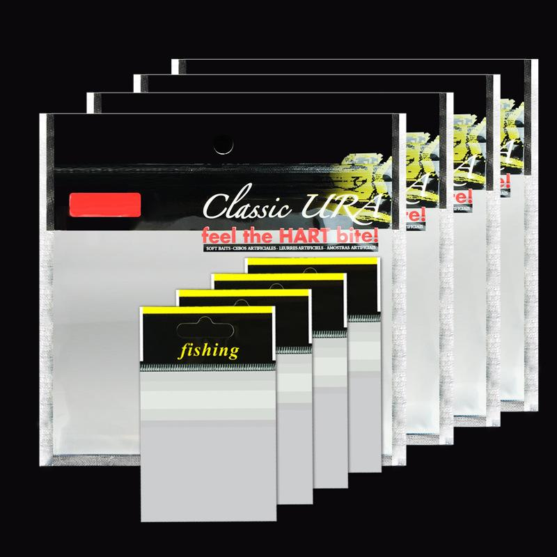 Multi-Size-gelber schwarzer Kunststoff-Aluminiumfolie-Verpackungsbeutel mit Flugzeuglöchern für verschiedene Angelrad-Zubehör zum Hang-Köderhaken