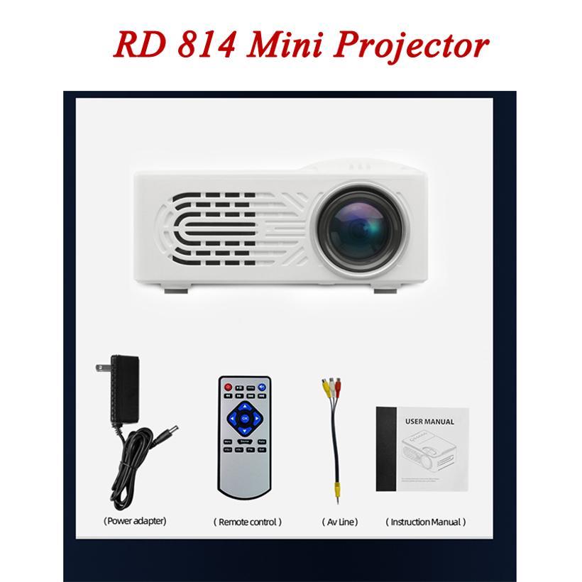 미니 프로젝터 RD814 LCD LED 휴대용 포켓 프로젝터 RD-814 홈 시어터 시네마 멀티미디어 키즈 아이 가족 비디오 미디어 플레이어