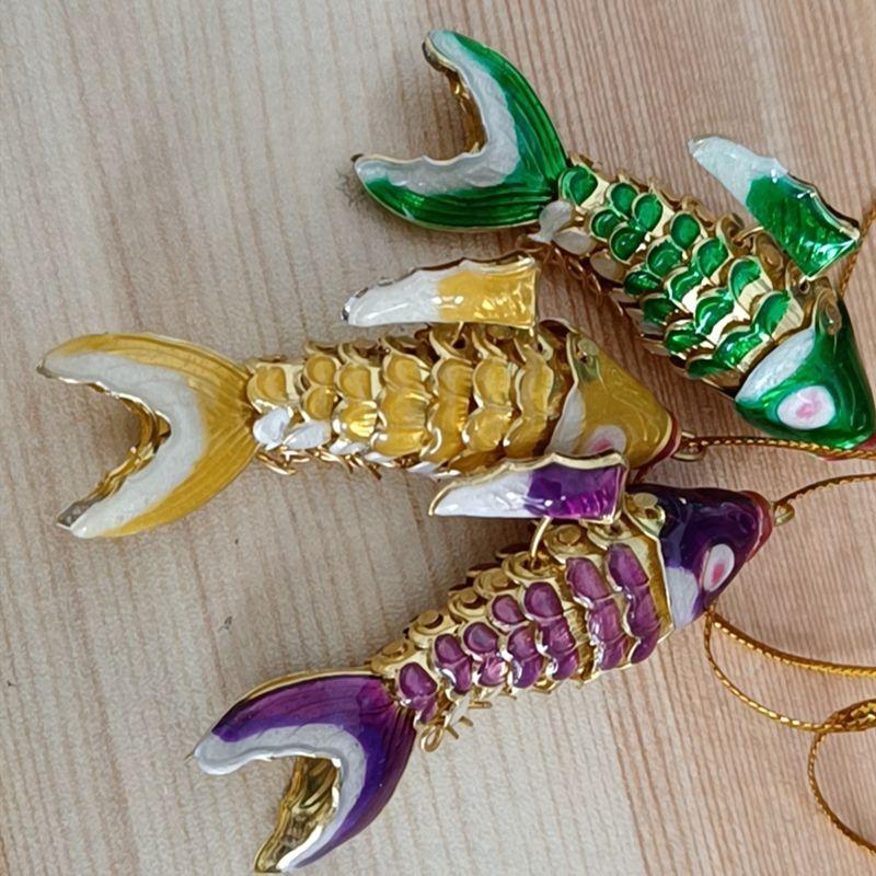 Большой 2 размер эмаль яркий качели Koi рыба милые подвески для брелок для женщин мужчин подарок с коробкой Клаузонн животных причудливые карпы рыбные цепи