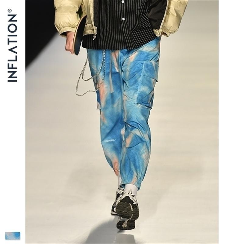 Inflation FW Hommes Die Dye Jogger Pantalon Loose Fit Hommes Hommes Pantalon Jogger Pantalon Elastic Men Streetwear Tie Cravate Pantalon 201109