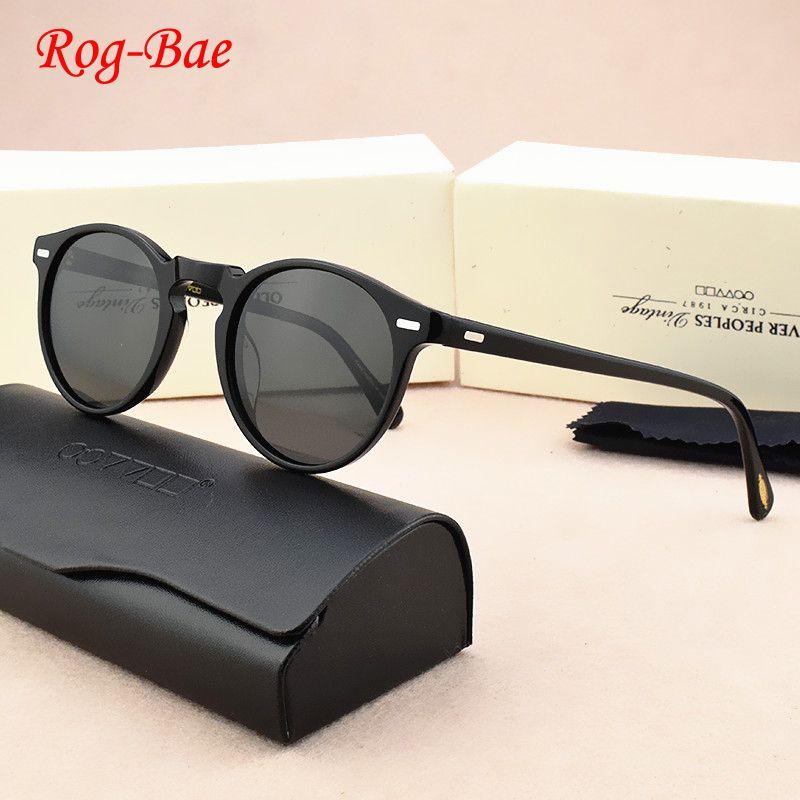 new Brand Retro polarized Sunglasses Women Brand Designer Round Vintage sunglasses men female women's sun glasses for men OV5186 X0125