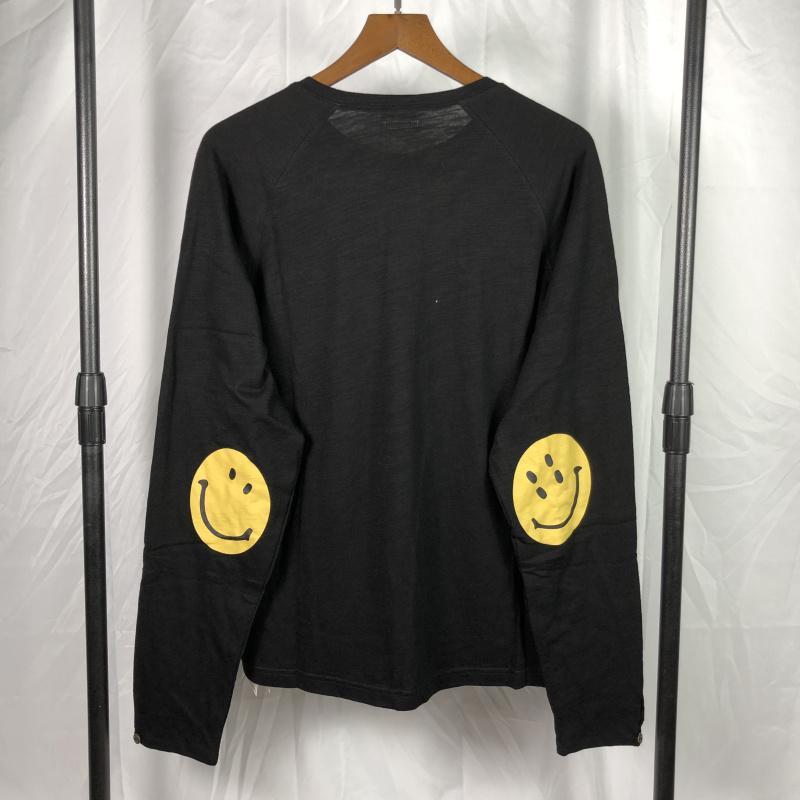 novo 2020 outono solto t-shirt kapital sorriso rosto impressão manga longa algodão em torno do pescoço unisex tee