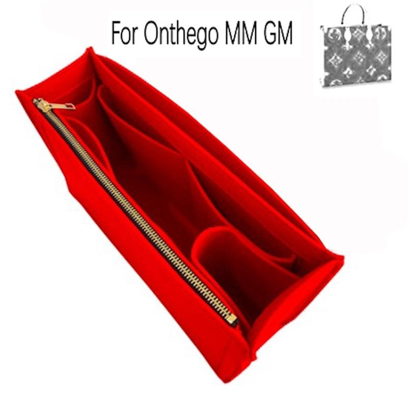For Onthego MM GM Bag Tote Bag Organizer Bag Liner Purse Insert-3MM Premium Felt (Handmade/20 Colors) 210315