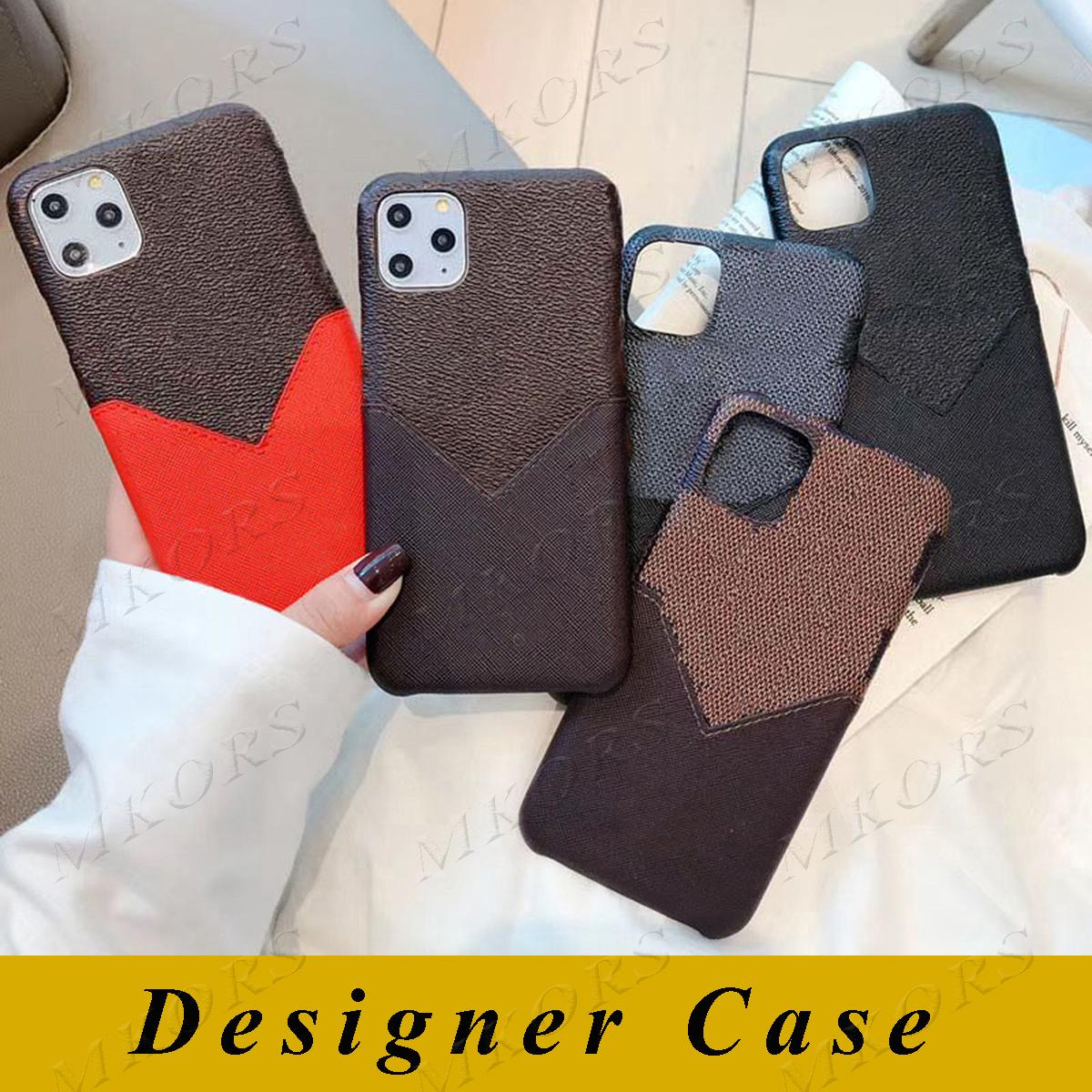 L تصميم حالة الهاتف لآيفون 12 ميني 12PRO 11 11PRO X XS MAX XR 8 8Plus 7 7Plus بو الجلود الحالات مصمم قذيفة مع فتحة بطاقة حامل