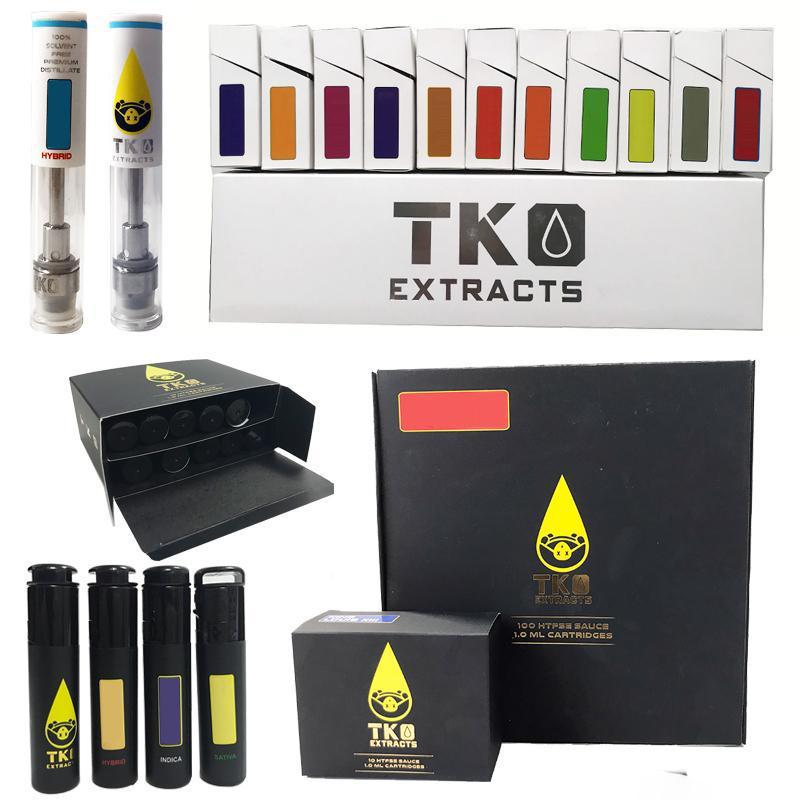 TKO vape penna cartucce confezione 0.8ml 1ml 1ml ceramica spessa olio di atomizzatore 510 filettatura e sigaretta books carrelli