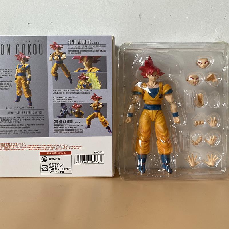 SH Figuarts Super Saiyan Goku Gokou Действие Фигура Подвижная коллекция Модель Детская игрушка Кукла Аниме 201202