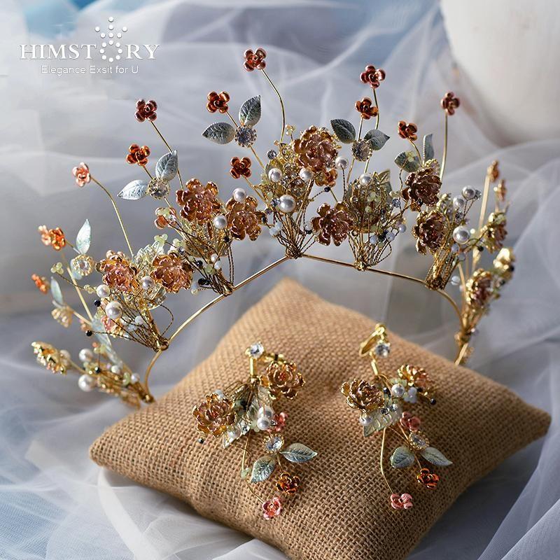 Другие Himstory высокого класса Vinatge европейские волосы короны для волос головные уборы свадебные свадебные аксессуары