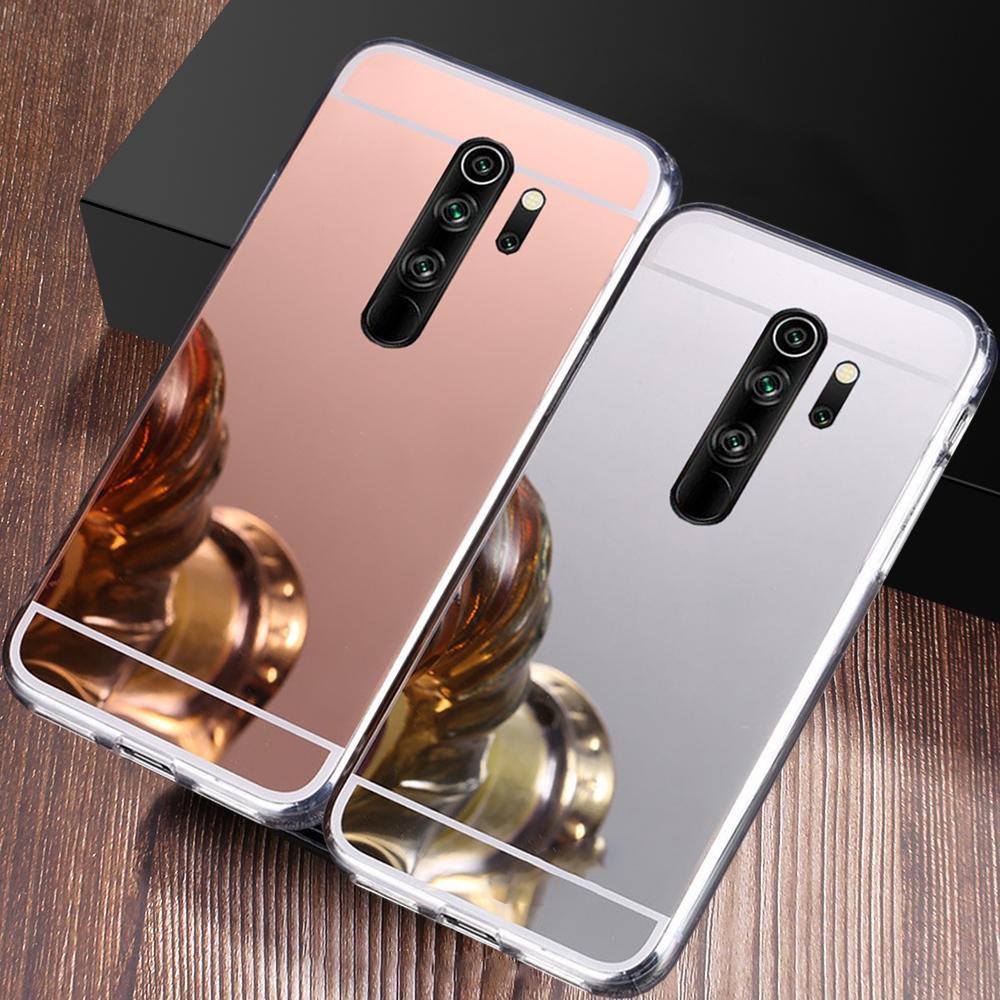 Cas de miroir pour Xiaomi Mi 5x 6x Note 3 6A 7A 8A 9C 9A S2 RedMI Remarque 4 4x 5 7 8 9 PRO 8T 9S POCO X2 F2 Couvercle de couverture de maquillage