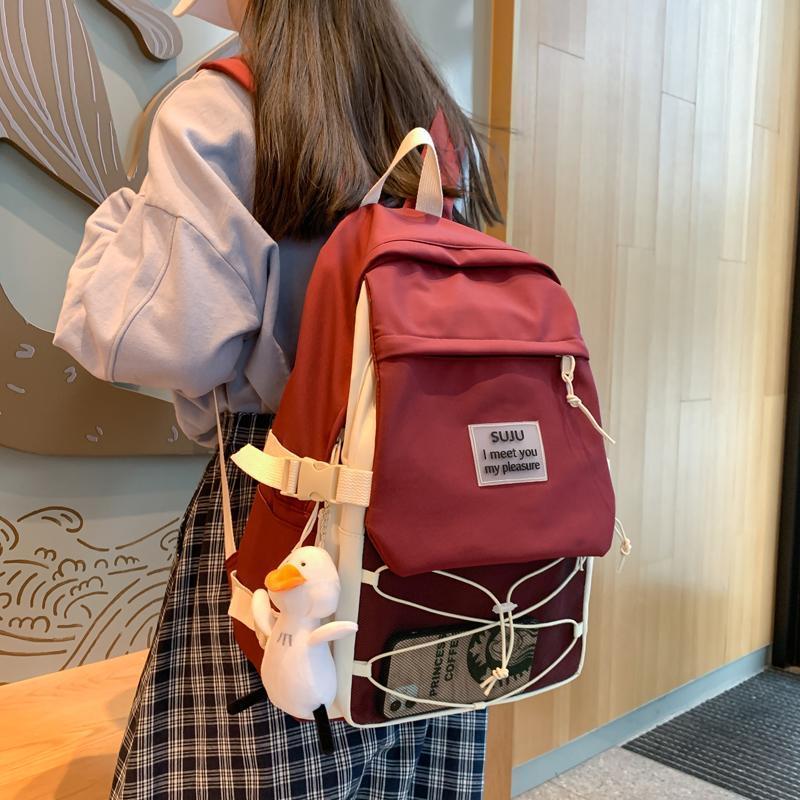 Высокоценные милые рюкзаки для женщин для женщин Школьные рюкзаки для подростков для подростков 2021 новый корейский стиль кампуса 15.6 дюймов путешествия ноутбуки