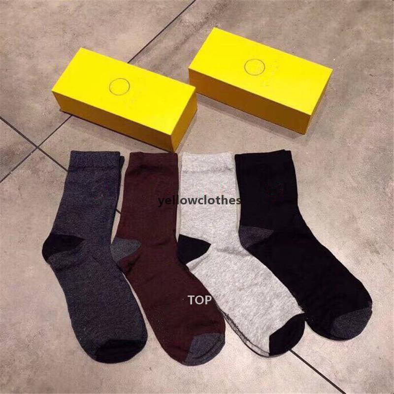 Classic Letter Socks With Box Adult Fashion Socks Breathable Sports Socks Casual Cotton Sock Hip Hop Skateboard Sock Y