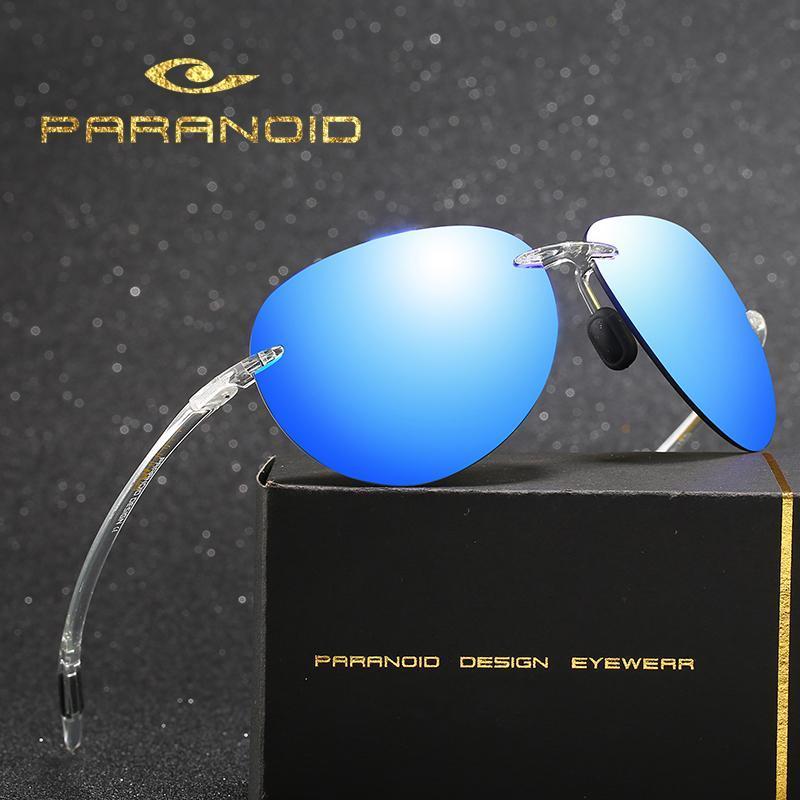 Lunettes de soleil Vintage paranoïde UV400 Verres solaires pour hommes pour hommes conduisant des lunettes noires Oculos mâle 8 couleurs modèle 8512 p8512