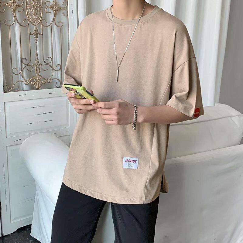 2021 T-shirt demi-manches de demi-manches en coton en coton coréen coréen coréen