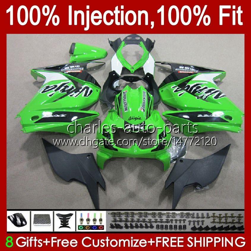 Injection pour Kawasaki Ninja ZX250R EX250 2008 2009 2009 2011 2012 13HC.88 Green Green EX250R ZX-250R ZX250 ZX 250R 08 09 10 11 12 Catériel