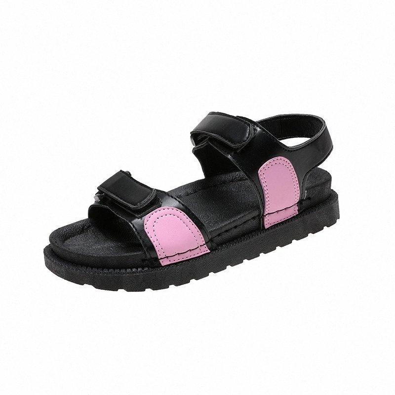 Sagace Summer Sports sauvages et loisirs Velcr Plat Base de plage Sandales Plateforme Sandales Sandales Sandales Chaussures Pour Femmes Liège Travail V2A7 #