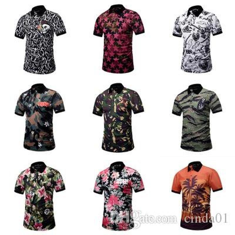 2021 летняя короткая мужская рубашка камуфляж дизайнер 3D печать мужчин рубашки мужской забавный пляжный стиль топ футболка