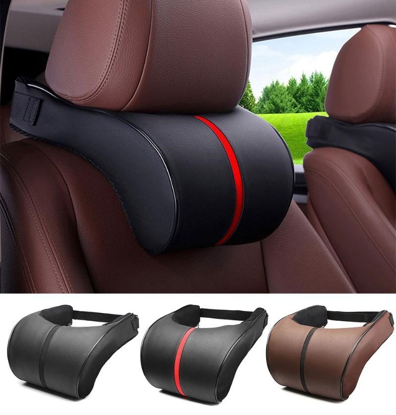 Подушки сиденья PU кожи авто автомобиль шеи подушка наволочки пены подушки подушки для подголовника подушки