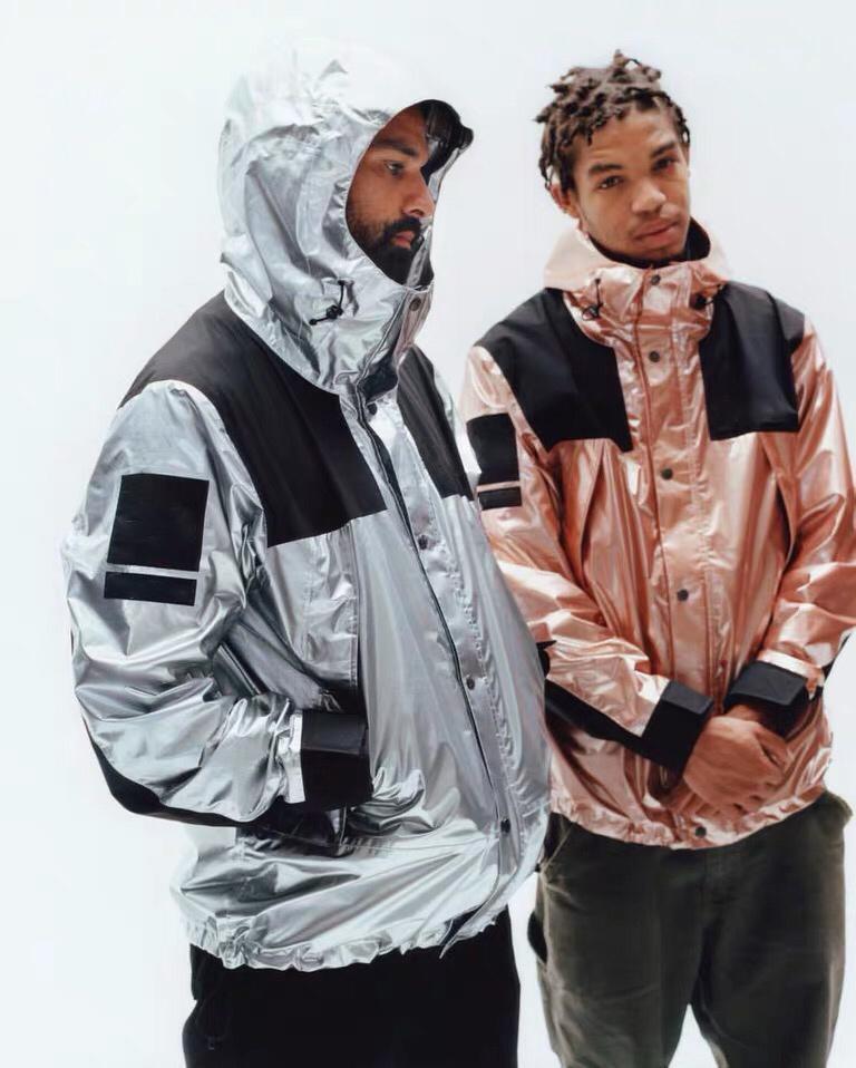 Мужские женские ветровавые куртки Весна осень зима унисекс с капюшоном пальто на улице Куртки хип-хоп уличная одежда Щепка золотистый розовый JK007