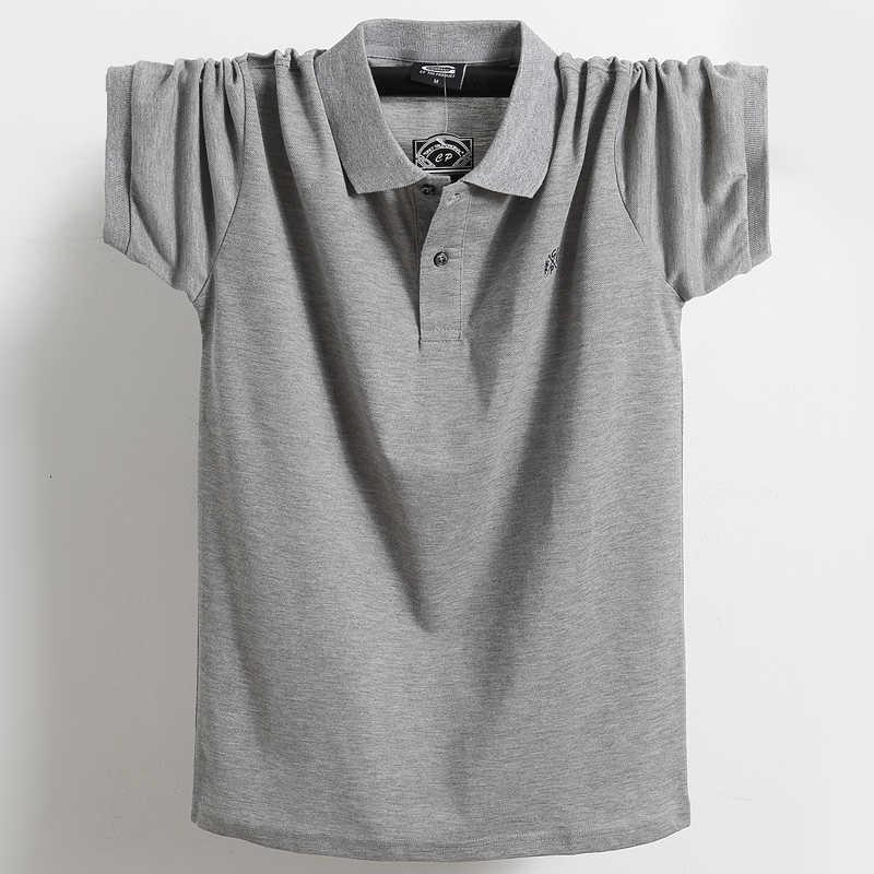 На продавке плюс 4XL 5XL 6XL мужчин с короткими рукавами высокого качества 95% хлопчатобумажная мужская одежда Летняя рубашка Tace Arcark мужская рубашка поло