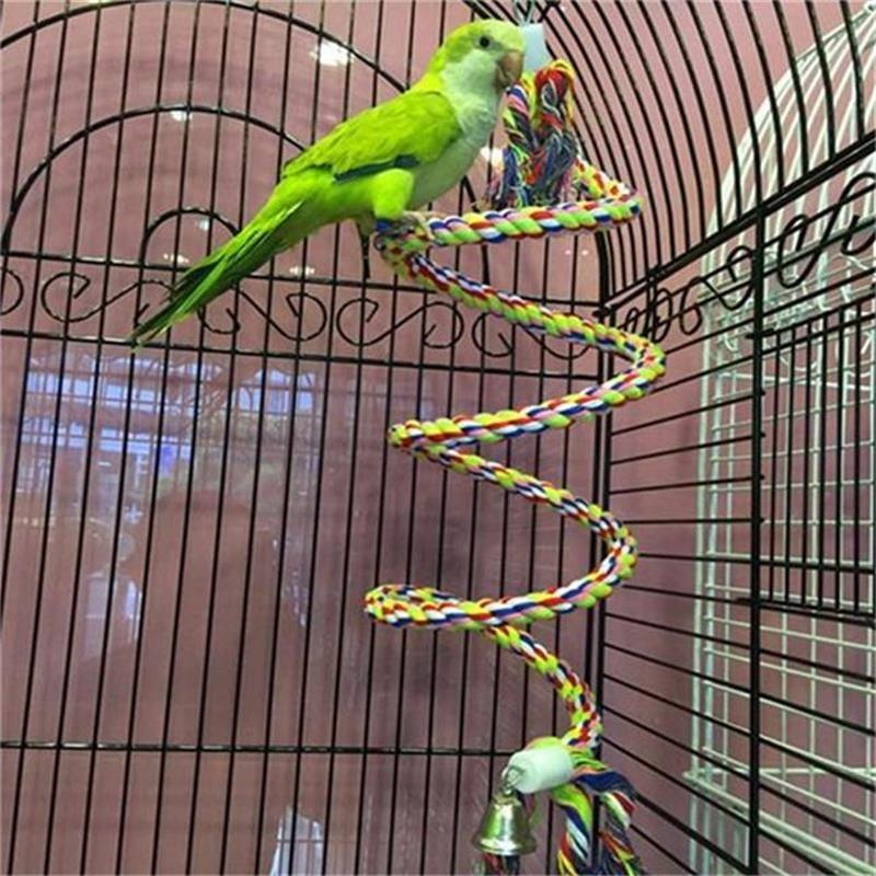 50 cm pappagallo giocattolo corda intrecciata pappagallo animale domestico masticare corda budgie persico bobina uccello gabbia cockatiel giocattolo pet uccelli addormentato accessori