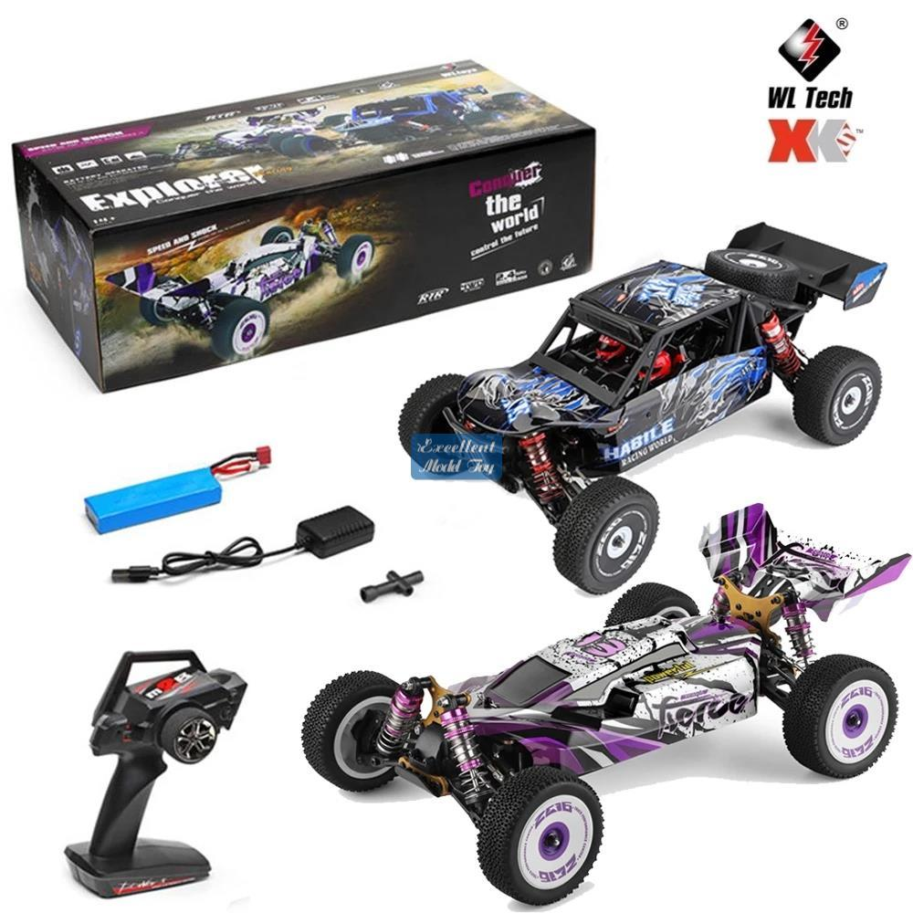 Wltoys 1/12 2.4G-control remoto 60km / h Coche de carreras, 4WD-Off-Road Coche, Chasis de metal, amortiguador hidráulico, regalo de niño, 124019 / 124018,2-1
