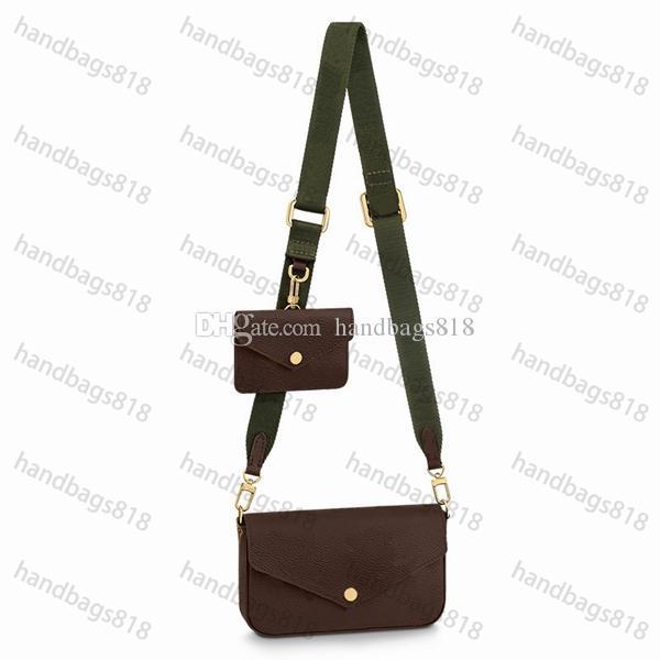 حقائب الكتف المرأة الكتف المرأة 2021 مع صندوق cossbody bagcross الكلاسيكية أزياء الشارع نمط جديد ثلاثة قطعة لون الجملة حقائب 919