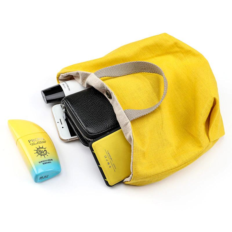 Hot 2021 Leinwand Einkaufstasche Neue Retro Damen Handtaschen Tuch Tasche Mittagessen