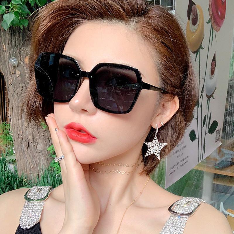 Zuidid Pirinç Tırnak Büyük Çerçeve Güneş Gözlüğü Bayanlar Moda Siyah Kare Boy Güneş Gözlükleri UV400 Lentes de Sol Mujer