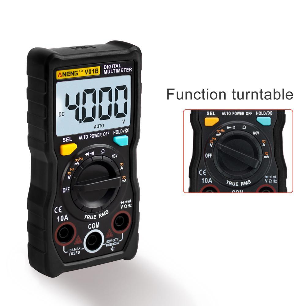 Multimetro digitale 6000 conteggi Auto Ranging Tensione AC / DC Tensione Flash Light Light Light Schermo grande 113A / D