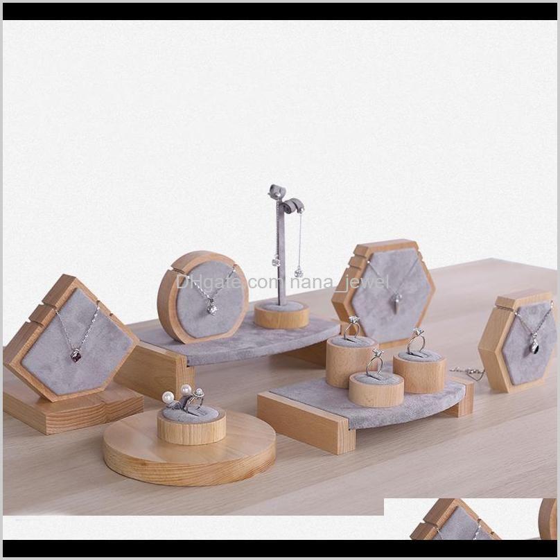 الفاخرة الخشب والمجوهرات عرض موقف المجوهرات بوتيك عرض عرض المعرض التجاري عرض المعرض العارضين حلق القرط قلادة سوار ليزف