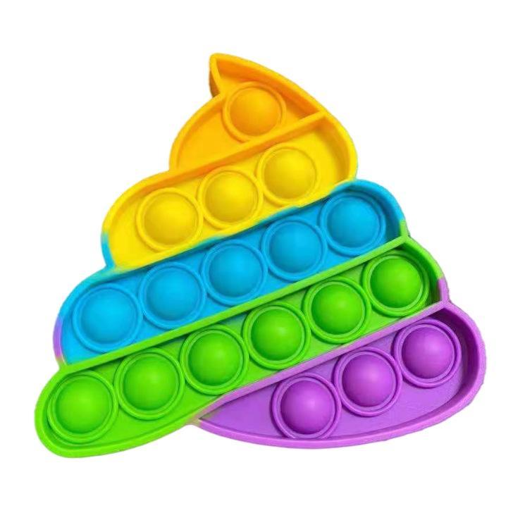 Push Bubble Fidget POP Toys Autism Особые потребности Reliver помогает облегчить стресс и увеличить фокус мягкий сжатие игрушки