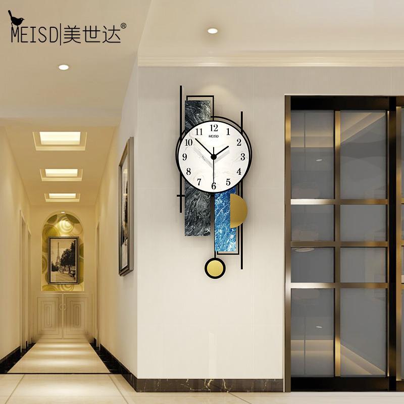 MEISD Relojes de pared nórdicos Reloj de pared colgante grande Péndulo Calidad acrílico Relojes grande Sala de estar Horloge Wall Art Envío gratis 210309