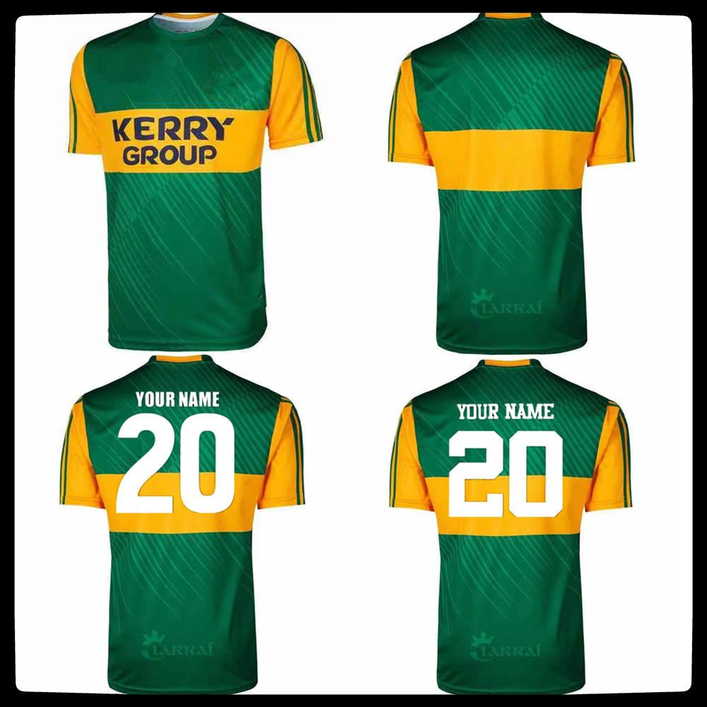 2021 İrlanda Kerry Rugby Eve Uzakta Erkek Jersey Rugby Eğitim Şort Forma Boyut S - 5XL